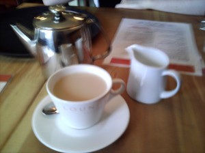 Another blurry picture of tea, this time at the Alto Lounge.