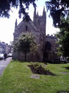 The outside view of St Peter's Church