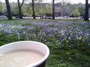 Tea and flowers at Hyde Park Corner