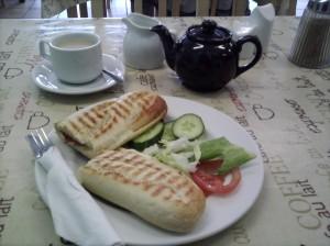 Tea and panini at Lou La Belle