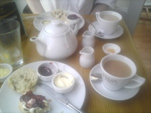 Cream tea at Ginger Two