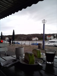 A view of the sea from outside the cafe