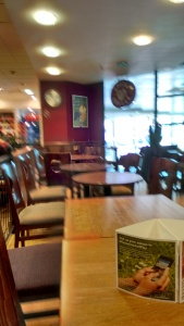 View of Costa at Waterstones Oracle