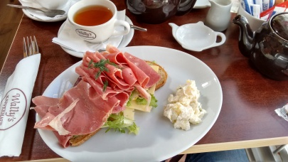 My Styria open sandwich (so much ham!).