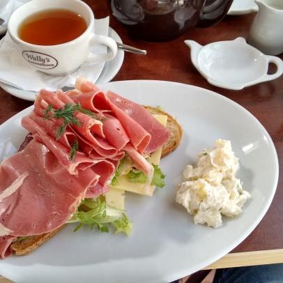 My Styria open sandwich (so much ham!).