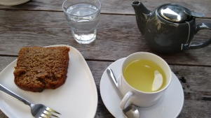 My banana loaf cake and camomile tea